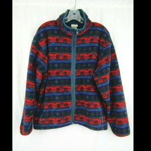 LL Bean Freeport Maine Vintage Jacket Fleece Zip